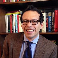 Photograph of Gabriel Pizzorno, Lecturer on History and faculty chair of the Digital Scholarship Support Group at Harvard University