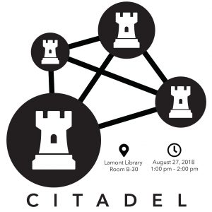 The CITADEL Project: Computational Investigation of the Topographical and Architectural Designs in an Evolving Landscape, August 27, 2018, 1-2pm, Lamont Library room B-30