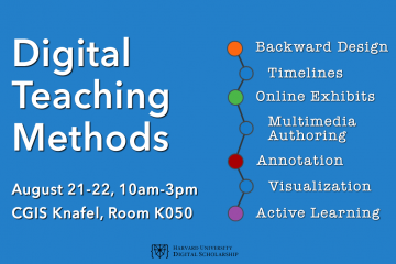 Foundations Seminar: Digital Teaching Methods, August 21-22, 2019